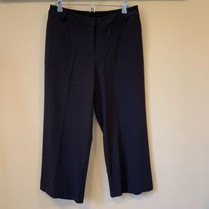 kensie Cropped Flat Front Wide Leg Pants